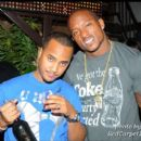 DJ QuikSilva and Willis McGahee at his Birthday party