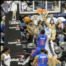 Pistons Ben Wallace goes up against Wizards JaVale McGee