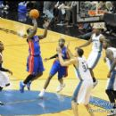 Pistons Will Bynum glides in for two points