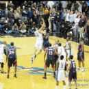 The games opening tip won by Wizards JaVale McGee