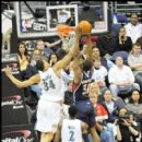Hawks Hilton Armstrong goes up against Wizards JaVale McGee