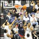 Hawks Jamal Crawford lays the ball in for 2 of his 13 points