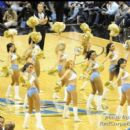 The Washington Wizard Cheerleaders perform during a timeout