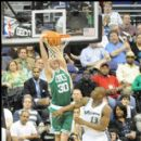 Troy Murphy gets a dunk for Boston