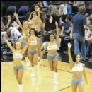 The Washington Wizard Cheerleaders take the floor during a timeout