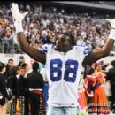 Cowboys Dez Bryant gets the fans at Cowboys Stadium excited