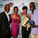 Doug Stewart, Rashan Ali (V-103 FM), actress Terri J. Vaughn, Ryan Stewart [Stewart Foundation Event]