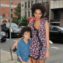 Solange and her son attends the Stella McCartney 2013 Spring Presentation in New York