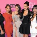"""Girlfriends"" cast members Jill Marie Jones, Persia White, Tracee Ellis Ross, and Golden Brooks with Writer/Producer Mara Brock Akil"
