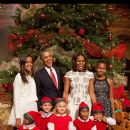 The Obama Family 2013 Holiday family picture